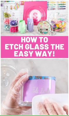 Learn How to Easily Etch Glass using Armour Etching Cream and a Cricut Vinyl Stencil crafts ideas creative How to Etch Glass with Armour Etch and Cricut Vinyl - Sweet Red Poppy Etched Glass Door, Etched Mirror, Diy Glass Etching, Glass Etching Stencils, Etched Glassware, Etched Wine Glasses, Behr, Vinyle Cricut, Broken Glass Art