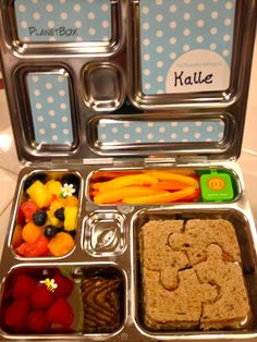 Lunch Box from Planet Box & Pottery Barn Kids.  My first time using this and love it!