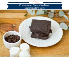 Chewy Cookies and Cream No Bake Marshmallow Bars by Happy Family Blog