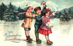 Назад в прошлое: новогодние и рождественские открытки наших прародителей (ФОТО) - Днепр Инфо