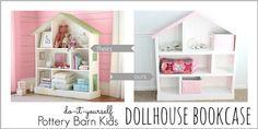 How to DIY DollHouse Bookcase   www.FabArtDIY.com