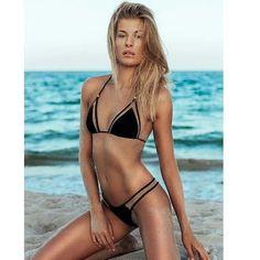 JUST INBrazilian Sexy Cutout Bikini Brand new. Available in black and white size small. Boutique Swim Bikinis