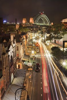 When in Sydney visit The Rocks District. It offers impressive views of Sydeny Harbour Bridge