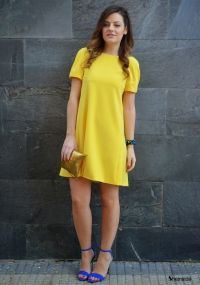 My Yellow Backless Bow Dress