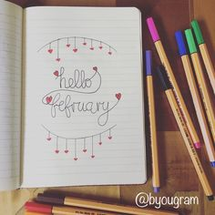 Bullet journal | Hello February Youtube channel http://www.youtube.com/playlist?list=PLgJZcgTHyPjnYsOq2AeePxZ04fXhirOCw