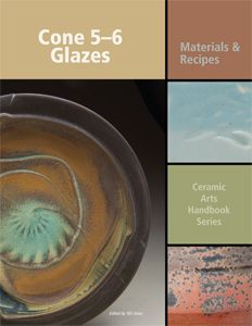Cone-5-6 glazes, edited by Bill Jones.  Over 180 recipes and useful materials information for the cone 5-6 firing range.  Softcover | 144 Pages Order code CA135 | ISBN 978-1-57498-336-4