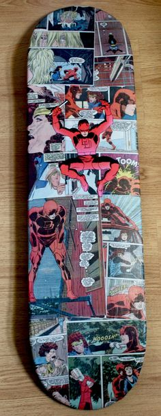 Daredevil Comic Panel Skateboard Art by iamaphonic on Etsy, $50.00