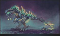 Subnautica Concept Art, Creature Concept Art, Mythical Creatures Art, Fantasy Creatures, Ark Survival Evolved Tips, Monster Shark, Legendary Monsters, King Shark, Shark Art