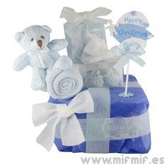 "Tarta de Pañales ""Present Cake"" disponible en http://www.mifmif.es"