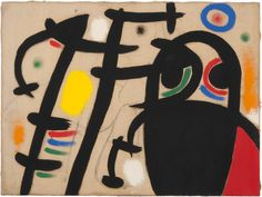 Joan Miró, Femmes V, 1969, Oil and charcoal on canvas, 60 x 81 cm. Courtesy Mayoral