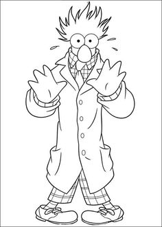 coloring page Muppets - beaker