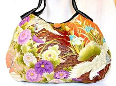 Japanese Purse Kimono Bag Handbag Hobo Japanese by KaeArtworks
