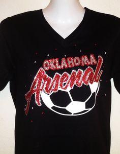 Customized Soccer Mom Bling Shirt . $20.00, via Etsy.
