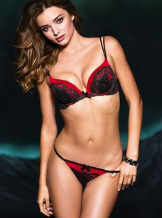 Things to know about lingerie -- Miranda Kerr Victoria's Secret 2013❤Red and Black=all=yum=all=of=australia=love=you=beautiful=girl=from=peter=horgan