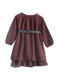 Babe & Tess Girls dress in Burgundy @ Hello Alyss