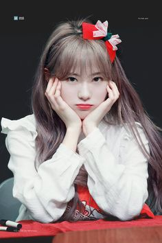 (grey haired) Luda from WJSN