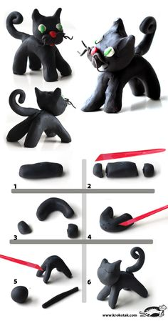 Plasticine BLACK CAT