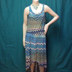 "Selling this ""LISTING Turquoise Hi Lo Chevron Dress"" in my Poshmark closet! My username is: cindyciara. #shopmycloset #poshmark #fashion #shopping #style #forsale #Dresses"