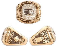 #6 philadelphia flyers 1975 stanley cup championship rings