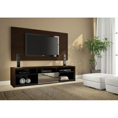 Rack Com Painel Para TV Pérola - 1.80m | Para Sala | Sidlar.com Móveis e Decorações