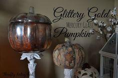DIY+Gold+Glitter+Mercury+Glass+Pumpkin