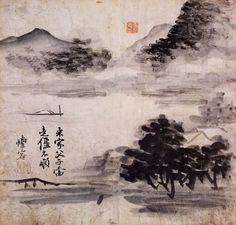 Gang Se-hwang, Landscape in the Mi Fu Painting Style (1713 - 1761) on ArtStack #gang-se-hwang #art
