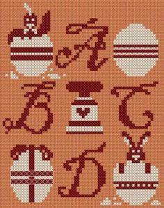 pâques - easter - oeuf - poussin - point de croix - cross stitch - Blog : http://broderiemimie44.canalblog.com/