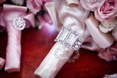 Wedding Bouquet Wraps, Holders and Handles Ideas - Belle The Magazine