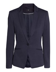 Check this out! Fitted blazer in jersey with front welt pockets. Vent at back. Lined. - Visit hm.com to see more.