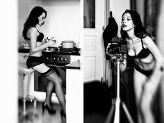 Renata Szczepanik, under the black dress, 2012 #art #photography #contemporary #artvee