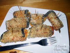 Involtini di melanzane con speck e basilico ricetta gratinata in forno.