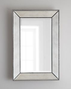 Allen Roth 30 In X 40 In Silver Beveled Rectangle Framed French Wall Mirror Bathroom