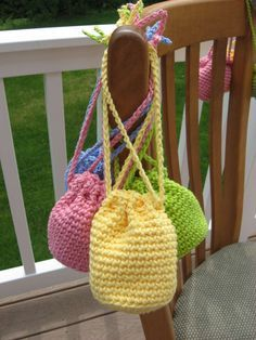Hooked on Needles: Party Favor 4-pack - My Crocheted Itty Bitty Anything Bag