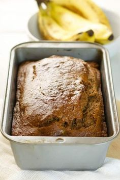 We make banana bread at our house a lot because it's the perfect way to use up old bananas. This recipe is our go-to easy, healthy banana bread recipe that my whole family loves. The recipe is healthy Dairy Free Banana Bread, Make Banana Bread, Banana Bread Recipes, Healthy Banana Recipes, Easy Healthy Banana Bread, Diabetic Banana Bread, Bread Machine Banana Bread, Low Calorie Banana Bread, Low Sugar Banana Bread