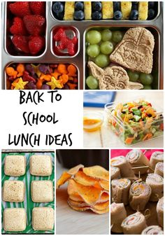 Back to School Lunch Ideas