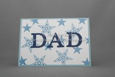 Simply Stars simple version for Father's Day Fathers Day, Stampin Up, Card Making, Paper Crafts, Scrapbook, Ink, Stars, Simple, Tissue Paper Crafts