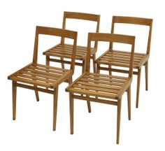 Set of four chairs by Joaquim Tenreiro | From a unique collection of antique and modern chairs at http://www.1stdibs.com/furniture/seating/chairs/.28,000