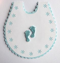 Quilling idea for a baby card (footprints) :-)