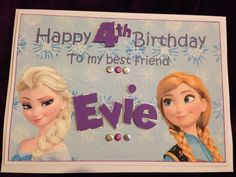 Frozen themed personalised birthday card