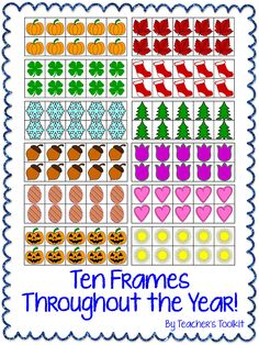 #Seasonal/themed #Ten #Frames #Clip #Art Frames throughout the year!