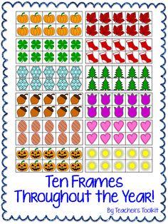 #Seasonal/themed #Ten #Frames #Clip #Art Frames throughout the year!