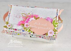 Melo Makes kreativ mit Stampin´Up: artisan-april-fb Handmade Crafts, Diy Crafts, Sewing Box, 3d Projects, Needle And Thread, Needlepoint, Stampin Up, Blog, Coin Purse