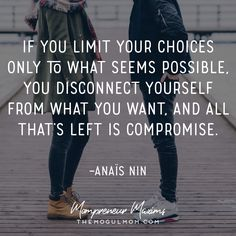 Inspiring quotes for Mompreneurs | The Mogul Mom | WAHM quote | Marketing quote | Business  quote anais nin quotes