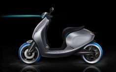 "Eco scooter ""Flow"" concept with airengine - Thesis degree by Davide Lombardi"