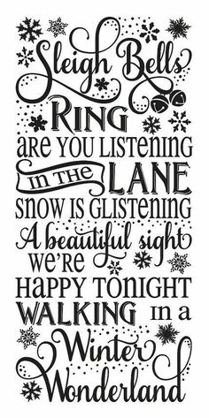 Winter Wonderland for Painting Signs Christmas Holiday Airbrush Crafts Wall Art Primitive Winter STENCILSleigh bells ring.Winter Wonderland for Painting Signs Christmas Holiday Airbrush Crafts Wall Art Christmas Quotes, Christmas Signs, All Things Christmas, Winter Christmas, Christmas Holidays, Christmas Christmas, Christmas Ideas, Christmas Phrases, Christmas Trivia