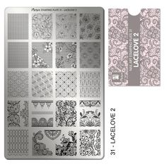 Stamping plate No:31 Lacelove 2