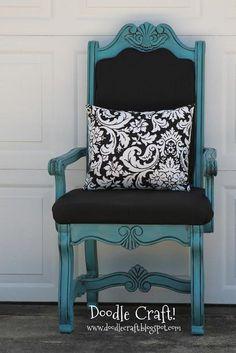 DIY Furniture  : DIY Vintage Style Queen Throne REDO...for FREE!