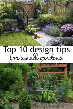 Urban Garden 10 garden design tips to make the most of small spaces. How to make your small… - Try these 10 garden design tips for small gardens to help make your space look bigger! Small gardens will be transformed with these clever design illusions Garden Cottage, Diy Garden, Garden Projects, Diy Projects, Garden Tips, Small Garden Design, Small Space Gardening, Small Garden Planting Ideas, Small Garden Trees