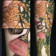 Tattoos by Tatu-Lu (Tattoo Lou) in the heart of Mullumbimby, NSW Australia. Tattoos Anime, Tattoos Skull, Sleeve Tattoos, Body Tattoos, Tatoos, Australian Tattoo, Nikko Hurtado, Bee And Flower Tattoo, Flower Tattoos