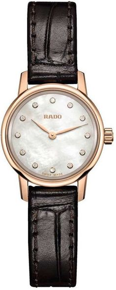 Rado Watch Coupole Classic MOP XS #add-content #bracelet-strap-leather #brand-rado #case-material-rose-gold #delivery-timescale-call-us #dial-colour-white #gender-mens #limited-code #luxury #new-product-yes #official-stockist-for-rado-watches #packaging-r